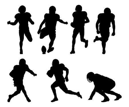 Jugadores de fútbol americano silueta Foto de archivo - 25235351