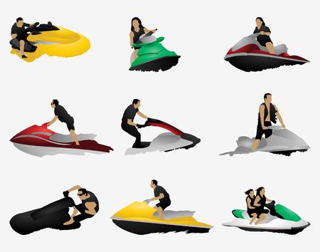 moto acuatica: Conjunto de esquí Jet