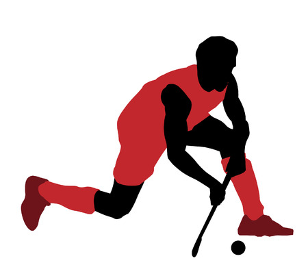 field hockey: Hockey Illustration