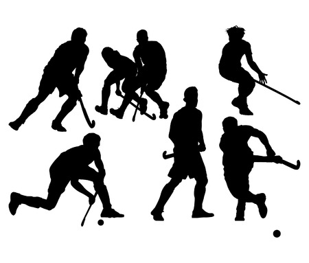 hockey cesped: Juego de hockey Vectores