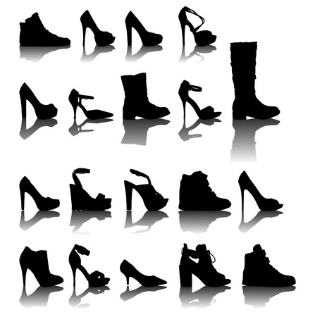 fetishes: Shoes silhouette vector illustration
