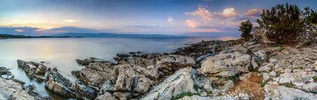 Beautiful landscape of Croatia, Croatia coast, sea and mountains. Panorama Stock Photo