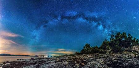 Beautiful landscape of Croatia, Croatia coast, sea and mountains. Panorama Standard-Bild