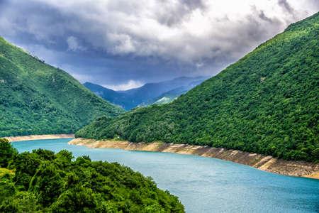 Beautiful landscape of Montenegro, Montenegro mountains, sea and mountains. Panorama Banco de Imagens