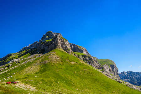 Beautiful landscape of Montenegro, Montenegro mountains, sea and mountains. Panorama Stock Photo