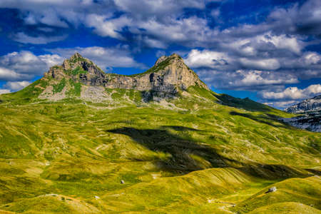 Beautiful landscape of Montenegro, Montenegro mountains, sea and mountains. Panorama Stock Photo