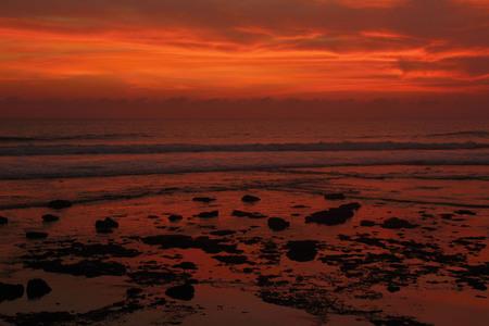echo: Beautiful sunset on Echo beach Bali.