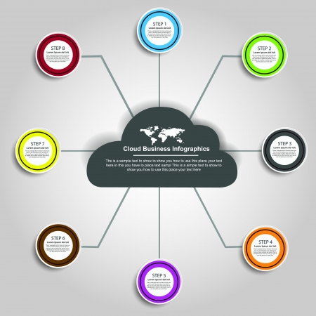 classify: Cloud Business Infographics