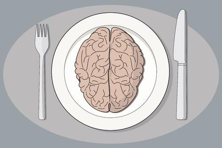 Cerveau sur une plaque Banque d'images - 36171956