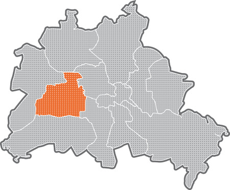 marzahn: Map of Berlin, focus on district Charlottenburg - Wilmersdorf