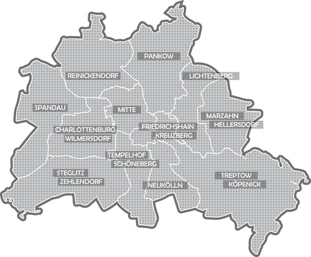 Map Of Berlin, All Districts Stock Photo, Picture And Royalty Free ...