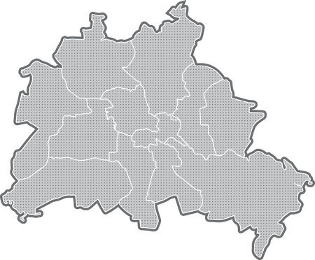 Carte de Berlin, tous les districts Banque d'images - 36374044