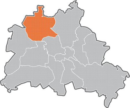 Map of Berlin, focus on district Reinickendorf