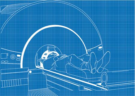 imaging: MRT (magnetic resonance imaging) scanner Stock Photo
