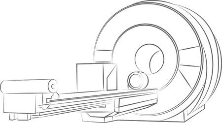 MRT (imagerie par résonance magnétique) scanner Banque d'images - 36374073