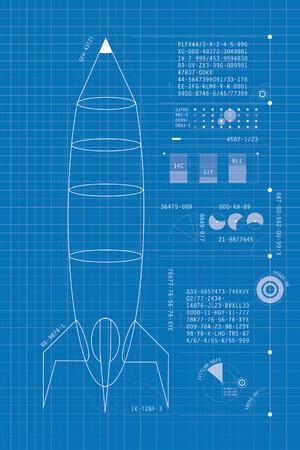 Rocket modèle Banque d'images - 36374134