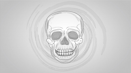 misfit: Human skull (illustration)