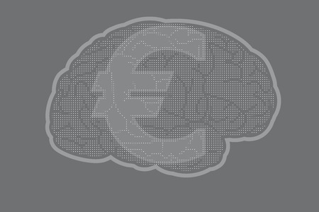 Brain with euro sign