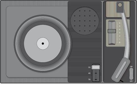Tourne-disque rétro Banque d'images - 40329751