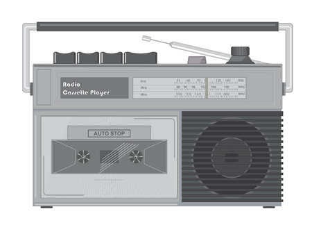 Radio cassette player retro style Standard-Bild