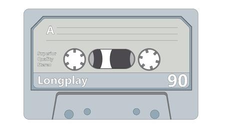 Audio cassette retro style