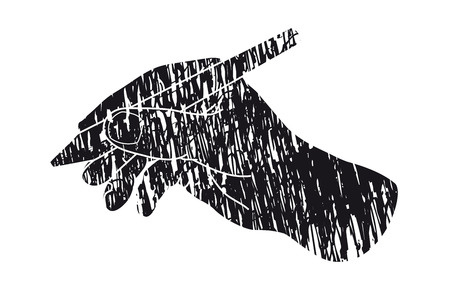 write: Hand writing