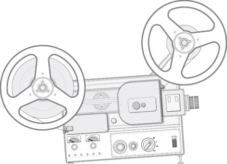 Retro style film projector Standard-Bild
