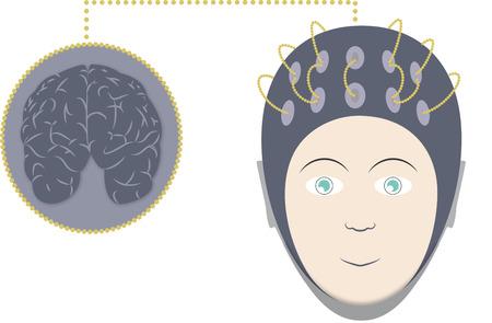 EEG et le cerveau Banque d'images - 55419762