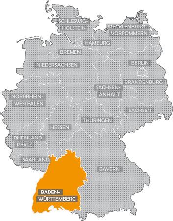 Germany Bundesländer: Baden Wuerttemberg Standard-Bild