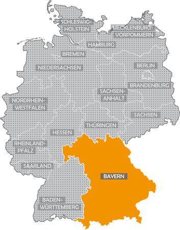 Allemagne Bundesl '?, de nder: Bayern Banque d'images - 57487152