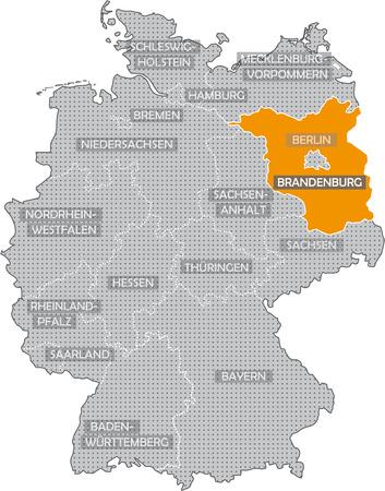 Allemagne Bundeslnder: Brandenburg Banque d'images - 57487159