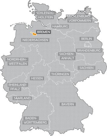 Germany Bundesländer: Bremen Standard-Bild
