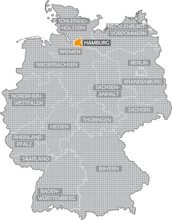 Allemagne Bundeslnder: Hamburg Banque d'images - 57487187