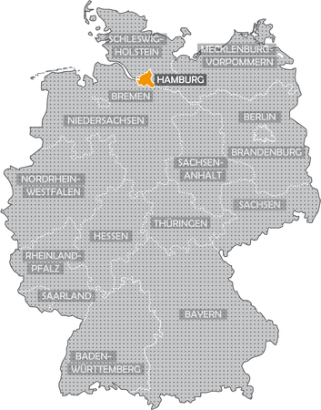 hesse: Germany Bundesländer: Hamburg Stock Photo