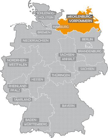 Germany Bundesländer: Mecklenburg Vorpommern Standard-Bild