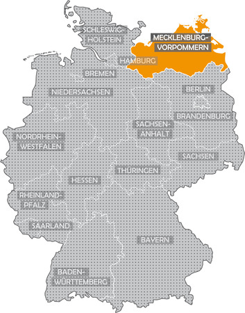 Germany Bundesländer: Mecklenburg Vorpommern Stock Photo