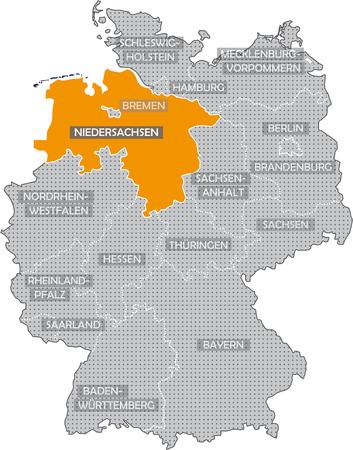 Allemagne Bundeslnder: Niedersachsen Banque d'images - 57487190