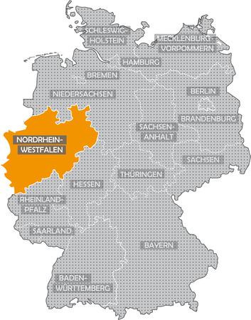 hesse: Germany Bundesländer: Nordrhein Westfalen Stock Photo