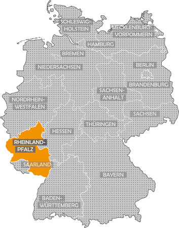 Germany Bundesländer: Rheinland Pfalz Stock Photo