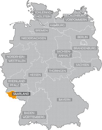 Germany Bundesländer: Saarland Standard-Bild