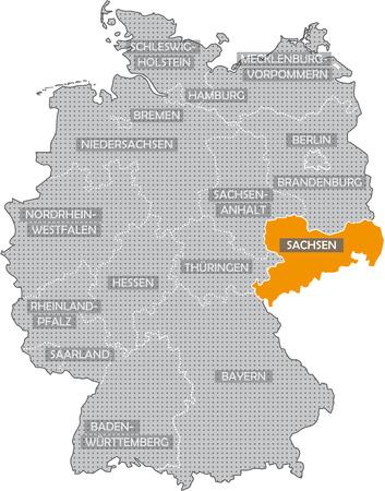 Allemagne Bundeslnder: Sachsen Banque d'images - 57487194