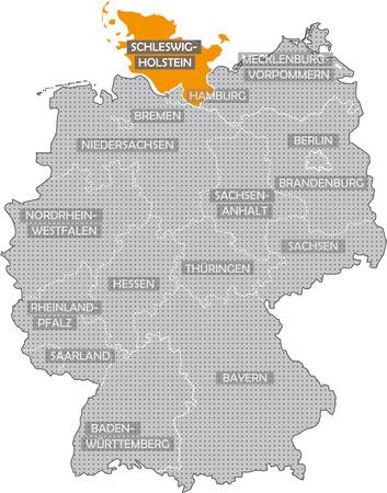 Allemagne Bundeslnder: Schleswig Holstein Banque d'images - 57487196