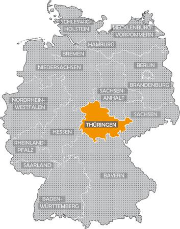 Bundeslnder Allemand: Thringen Banque d'images - 57487198