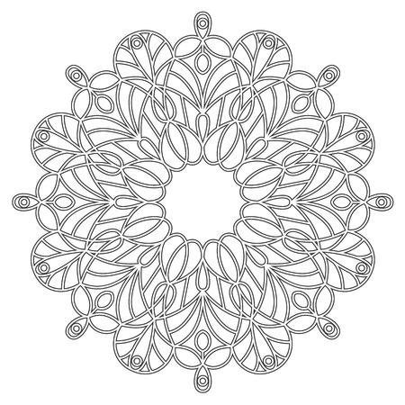 Malvorlage Mit Mandala. Ethnische Dekorative Elemente. Malbuch Für ...