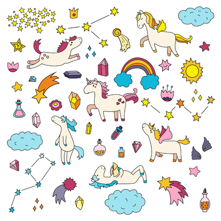 items: Cute unicorn and pony collection with magic items