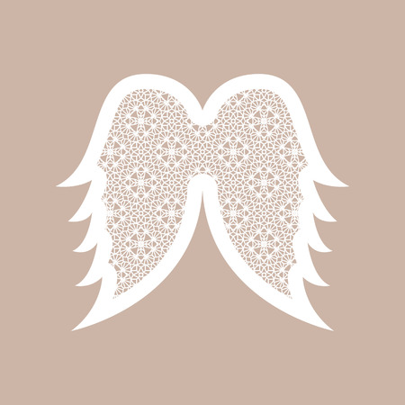 Christmas Angel Wings With Geometric Pattern. Laser Cutting Template ...