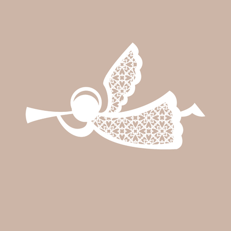 Christmas Angel With Geometric Pattern. Laser Cutting Template ...
