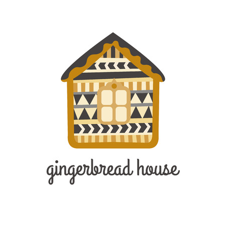 gingerbread house: Gingerbread House vector icon. Isolated on white background.