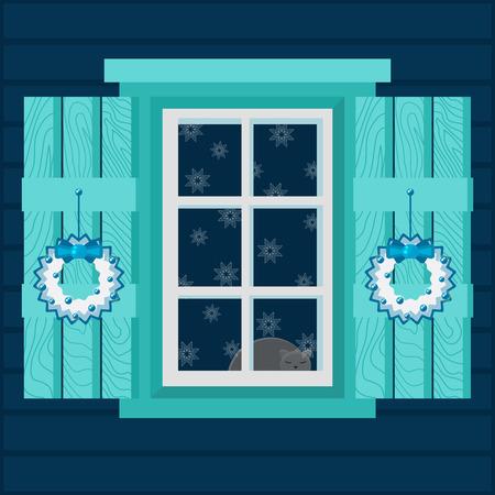 Christmas house interior design.