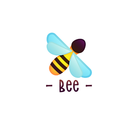 Beekeeping vector concept with bee. Modern gradient style vector. Honey illustration. Apiary concept.